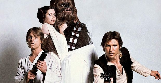 Han-Solo-Luke-Skywalker-Leia-Organa-and-Chewbacca-in-Star-Wars