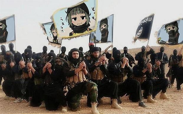 Anonymous, terör örgütü IŞİD'in propagandası yaptığıbelirtilen bir dizi hesabı hackleyerek hesapları anime karakterleriyle donattı.