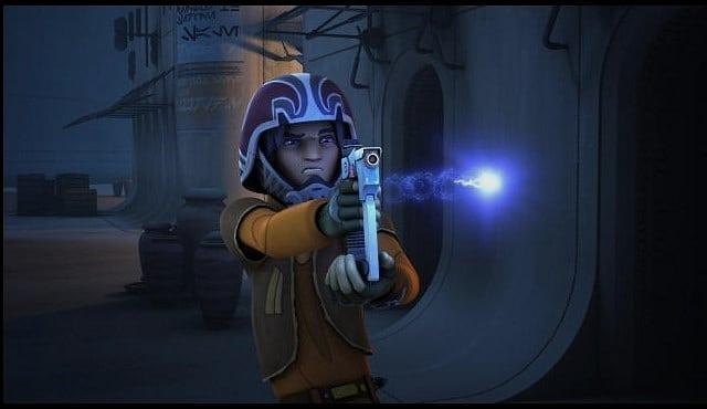 Ezra's lightsaber blaster combo