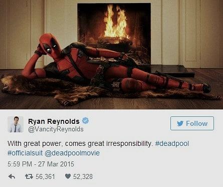 ryan reynolds twitter deadpool
