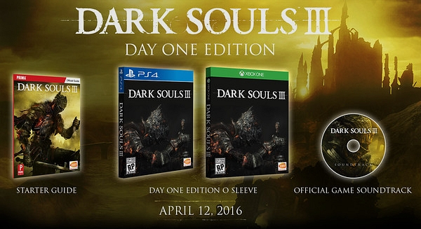 dark souls 3 Day One Edition O Sleeve