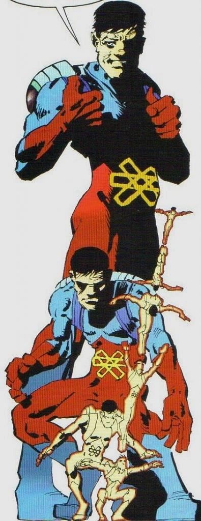 The Dark Knight Strikes Againde Ray Palmer karakteri Frank Miller tarafından geleneksel kostümüne benzer bir kostümle ve ilerleyen yaşıyla resmedilmiş