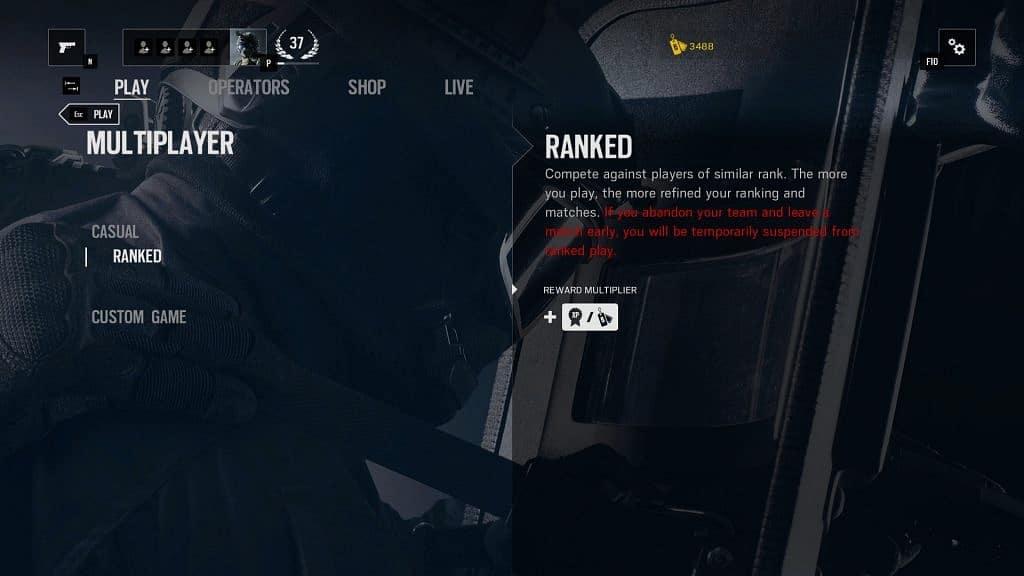 Ranked modu için 20 level olmanız gerek.