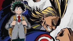 All Might and Deku Boku No Hero Academia