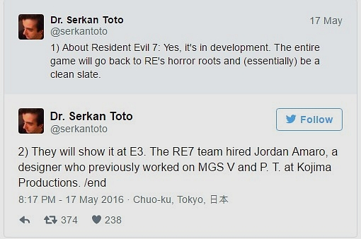 Resident Evil 7 Çıkış Tarihi