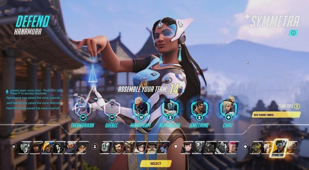 karakter ekranı overwatch