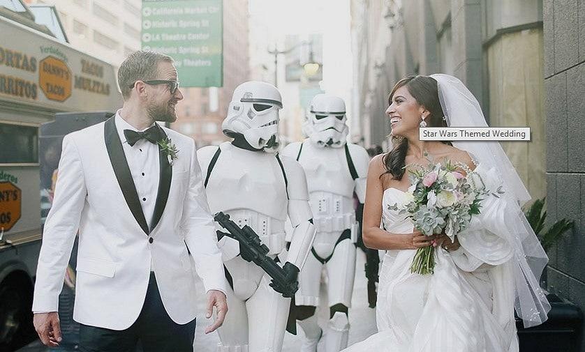 Star Wars Temalı Düğün