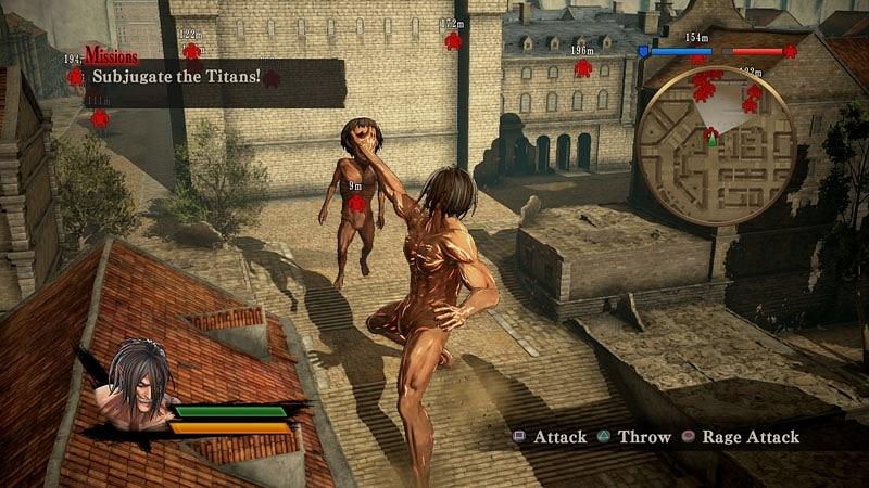 Eren'in Titan'a dönüşme özelliği oyunda oldukça basit tutulmuş.