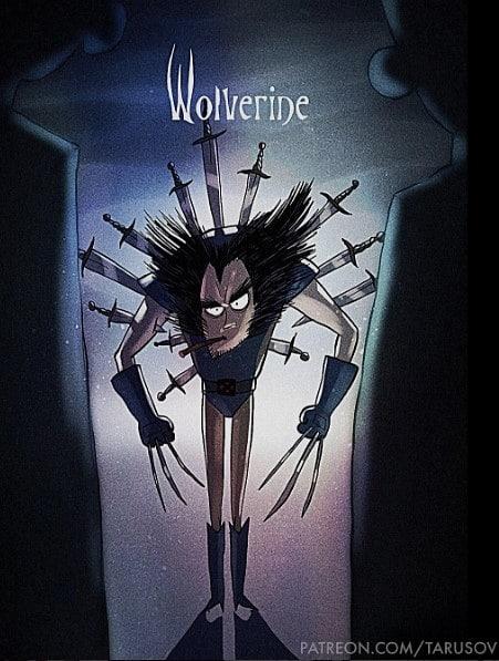 Tim Burton Style Wolverine