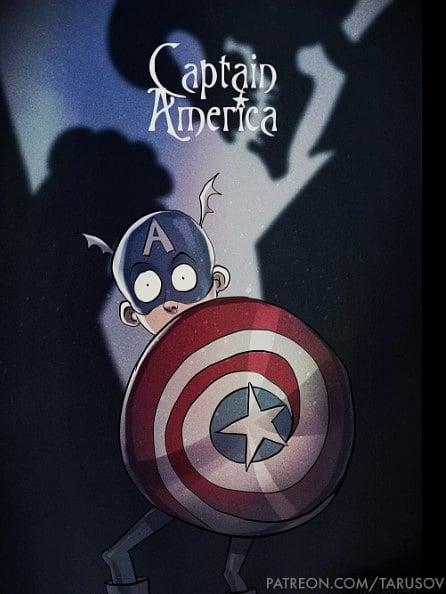 Tim Burton Style Captain America