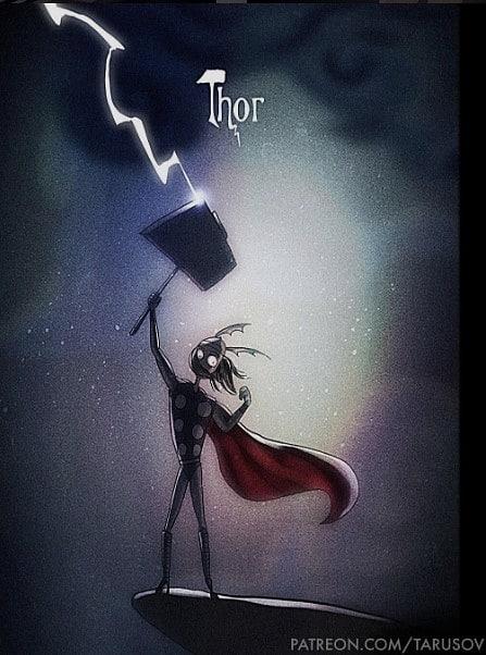 Tim Burton Style Thor