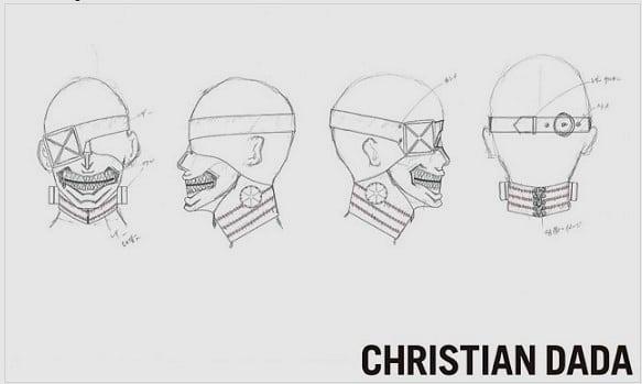 tokyo ghoul maske tasarımı