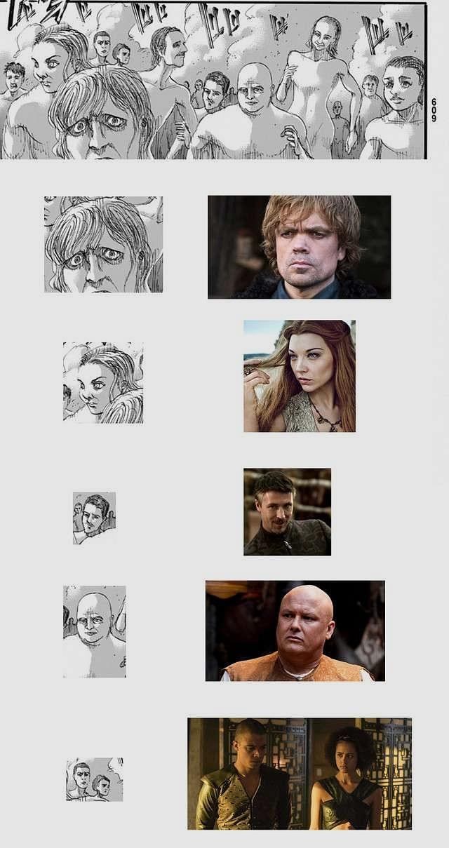 Game Of Thrones Karakterleri Attack On Titan