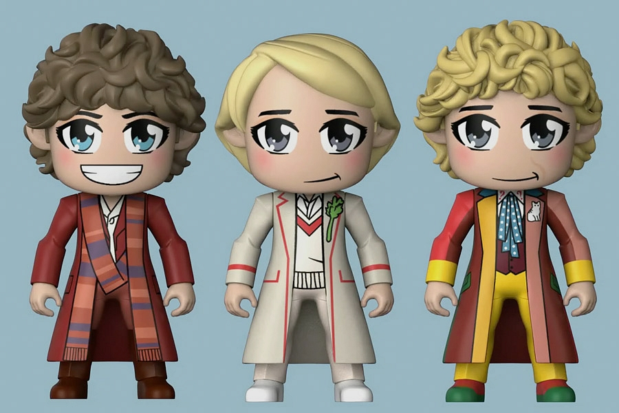 Dördüncü, Beşinci ve Altıncı Doktor artık Kawaii