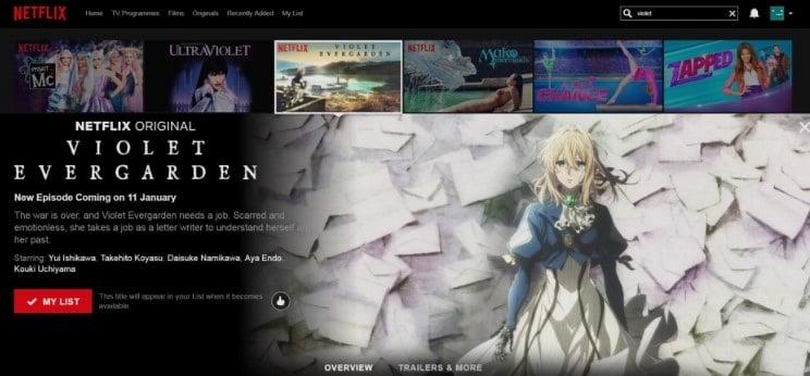Netflix'de Anime