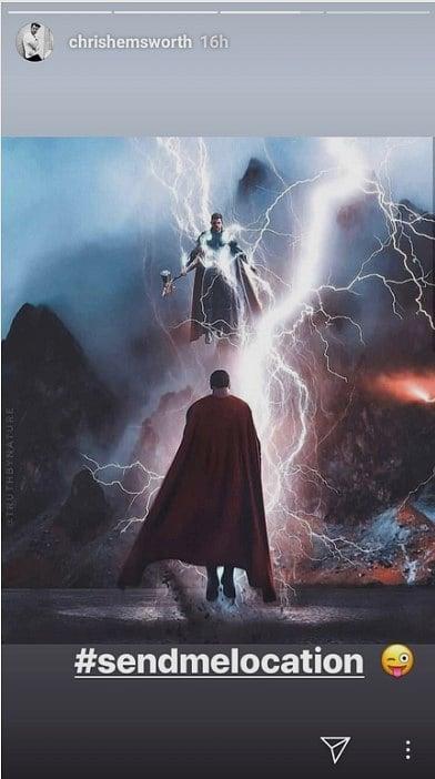 Chris Hemsworth Thor vs superman
